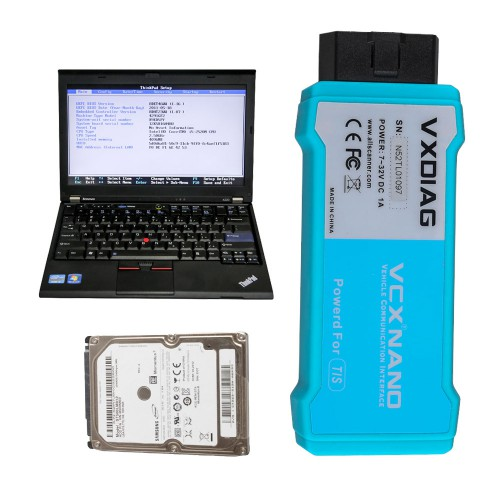 Full Set Lenovo X220 Laptop with 500GB HDD Pre-installed Software for USB VCX NANO Ford/Mazda, JLR or GM/Opel or WIFI VCX NANO Toyota