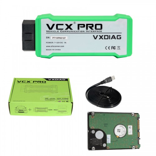 VXDIAG VCX NANO PRO Diagnostic Tool with 3 Free Car Brand Software with 2TB Full Brand Software HDD