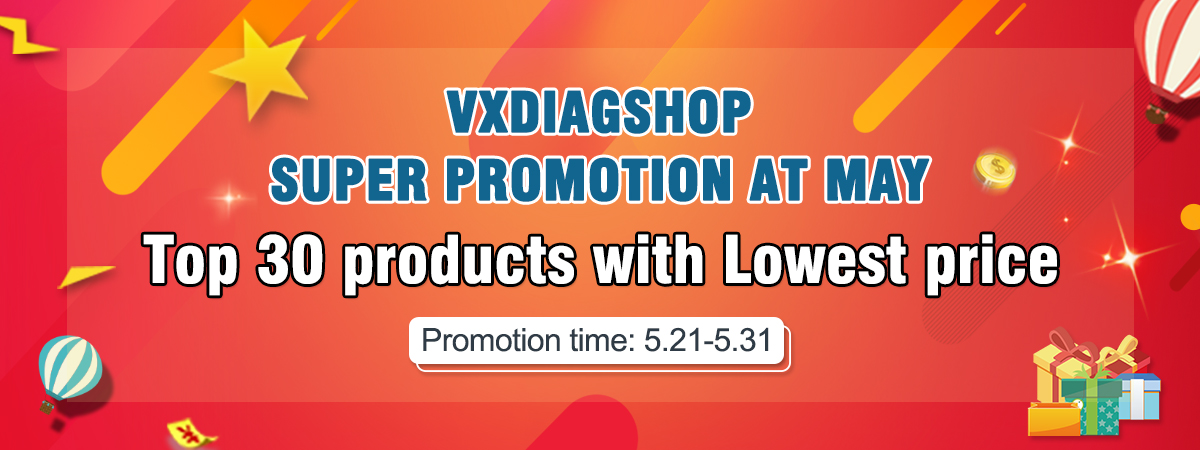 Super promotion at May-Top 30 products with lowest price