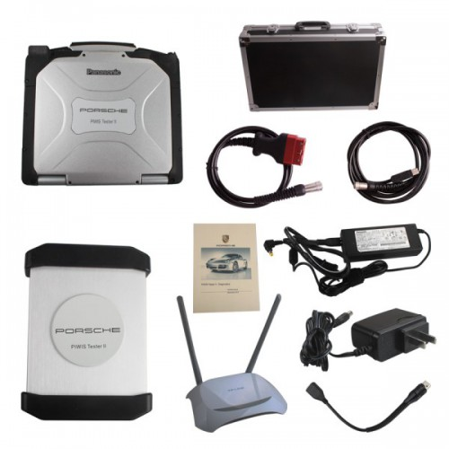 WIFI Version V16.2 Porsche Piws2 Tester II Diagnostic Tool With Panasonic CF30 Laptop