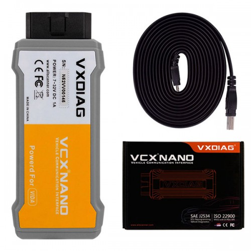 [US Ship] VXDIAG VCX NANO for Volvo Diagnostic Tool with VIDA 2014D Software Better than for Volvo Dice