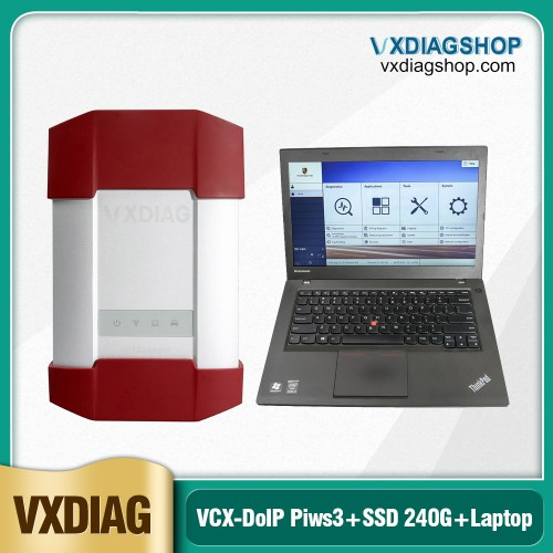 [On Sale] VXDIAG VCX-DoIP Diagnostic Tool for Porsche Tester III Piws3 V38.900.000 Software SSD 240G with Lenovo T440P Laptop