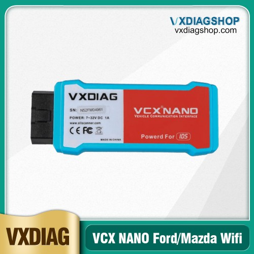 (Ship from US,No Tax) VXDIAG VCX NANO for V120 Ford IDS / V120 Mazda IDS 2 in 1 Support WIFI