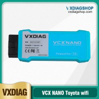 WIFI Version VXDIAG VCX NANO for TOYOTA TIS Techstream V15.00.026 Compatible with SAE J2534 Free Shipping