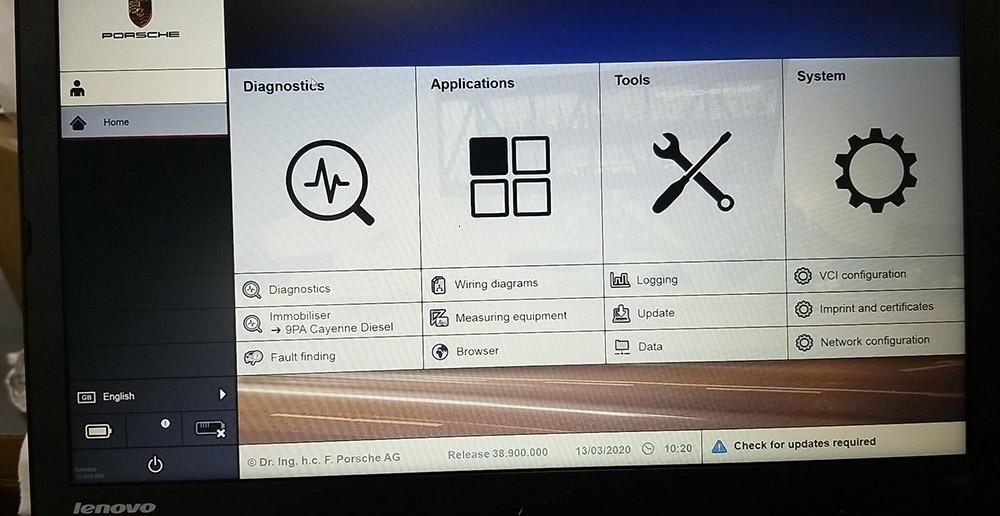 Porsche Tester Piwis3 Iii Diagnostic Tool V38 900 000 With Ssd  U0026 E7450