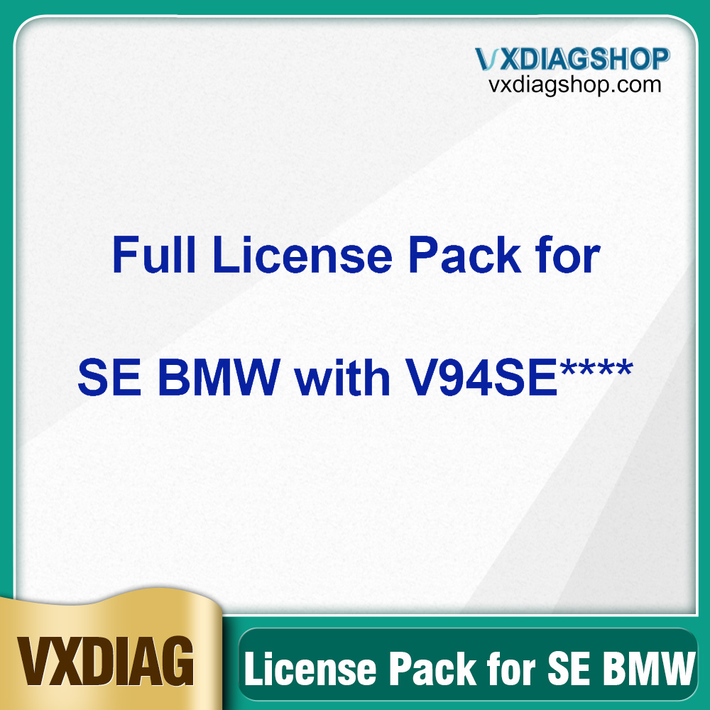 VXDIAG Full Brands Authorization License Pack for VCX SE BMW with SN V94SE****